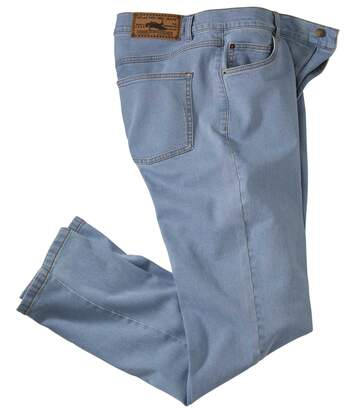 Hellblaue Regular-Jeans mit Stretch-Effekt