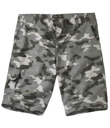 Men's Grey Camouflage Cargo Shorts