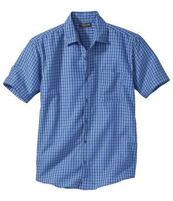 Geruit stretch overhemd Riviera
