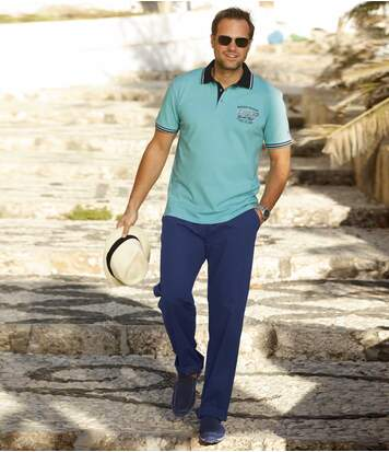Men's Casual Blue Trousers
