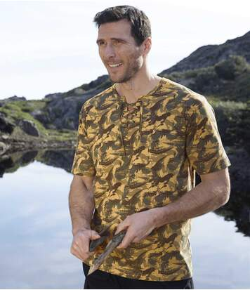 Men's Ochre Camouflage T-Shirt