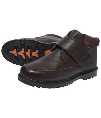 Кожаные Ботинки на Липучке «Комфорт»