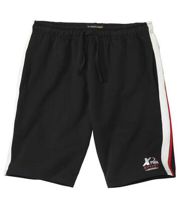 Men's Black Brushed Fleece Shorts