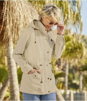 Szafari stílusú mikroszálas kabát