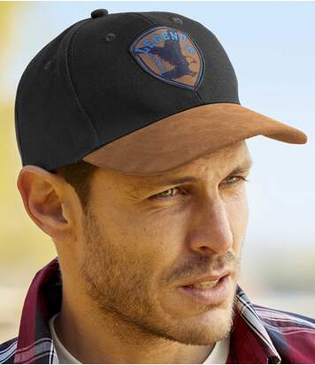 Men's USA Legend Baseball Cap - Black Brown
