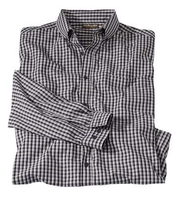 Popelinowa koszula w kratę Vichy