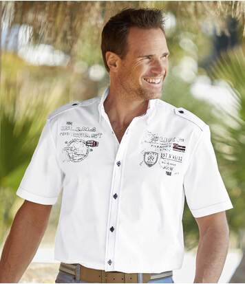 Chemise Pilote Tropical Island