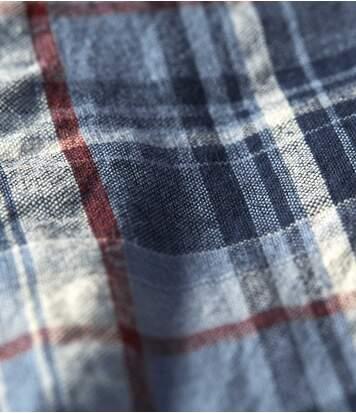 Kostkovaná košile skrepovým efektem