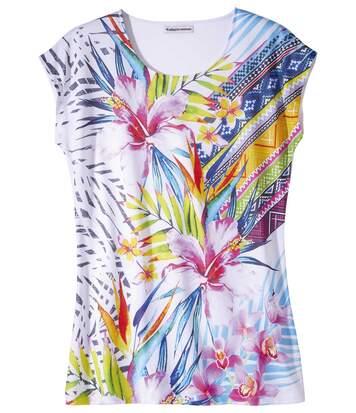 Maxi-Shirt Blumen