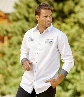 Men's White Poplin Adventurer Shirt