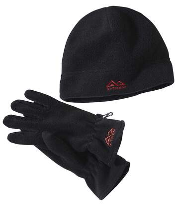 Fleece-Duo Mütze und Handschuhe