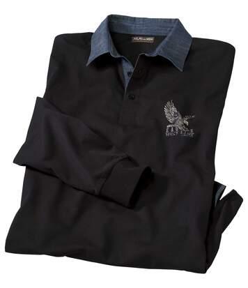 Polo z jeansowym kołnierzykiem Western Gentleman