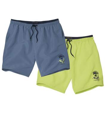 Lot de 2 Shorts de Bain Paradise Beach