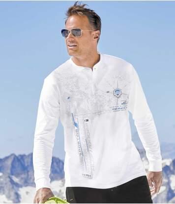 Lot de 2 Tee-Shirts Col Tunisien Sporting