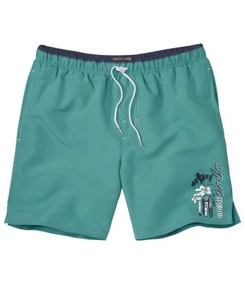 Men's Green Beach Swim Shorts