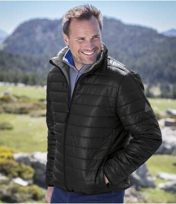 Men's Black Puffer Jacket