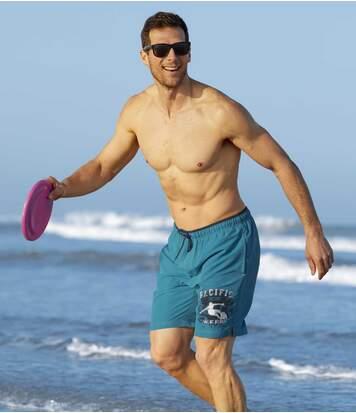 Men's Turquoise Pacific Surf Swim Shorts