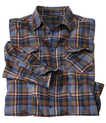 Men's Countryside Checked Flannel Shirt - Navy