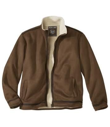 Замшевая Куртка с Подкладкой из Шерпы фото