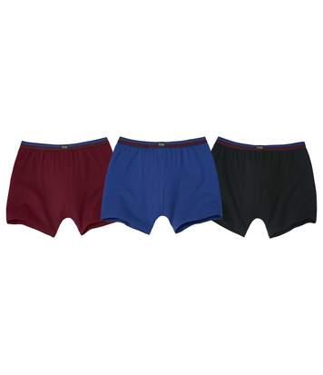 3er-Pack einfarbige Boxershorts