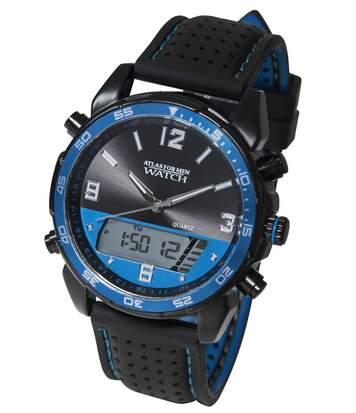 Športové hodinky s dvojitým ukazovaním údajov