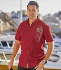 recherche chemise homme rouge