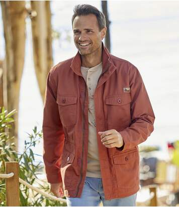 Men's Terracotta Safari Jacket - Full Zip