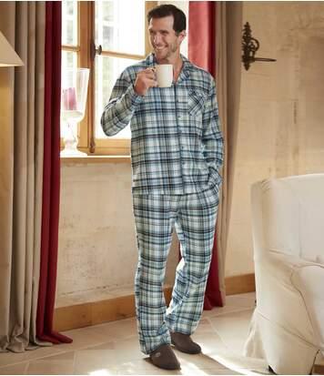 Flanelové kockované pyžamo