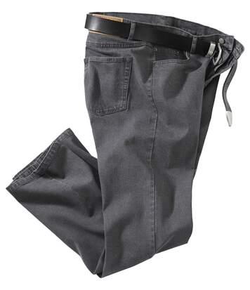 Men's Grey Stretch Jeans - Denim