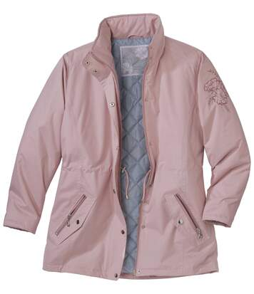 Women's Pastel Pink Microtech Parka