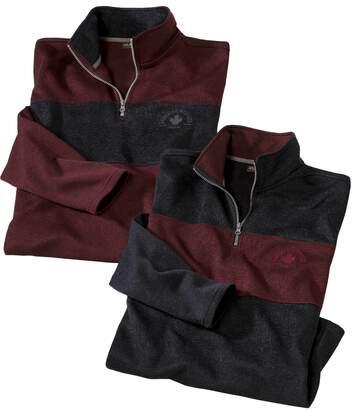 Set van 2 Seaplane sweaters van molton