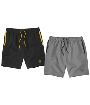 2er-Pack Shorts Sunny Beach aus Microfaser