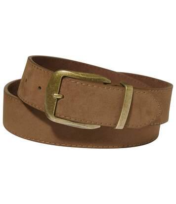 Men's Brown Leather Summer Belt