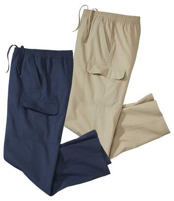 Lot de 2 Pantalons Cargo top confort