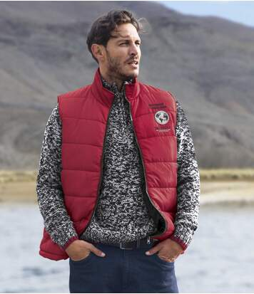 Men's Red Padded Gilet
