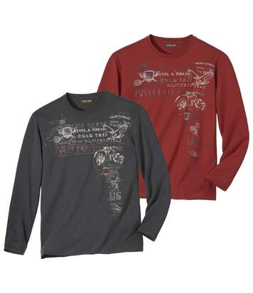Pack of 2 Men's Road Trip Print Tops