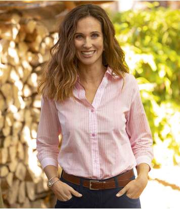 Długa koszula Pink Stripes