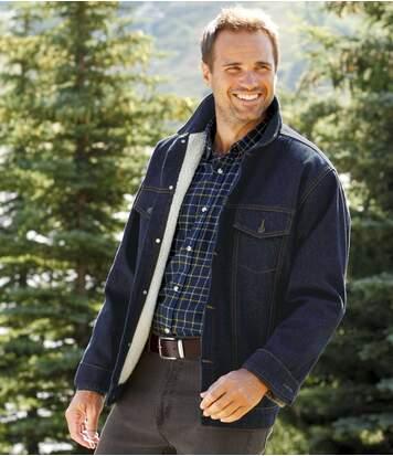 Schöne Jeansjacke mit Teddyfutter