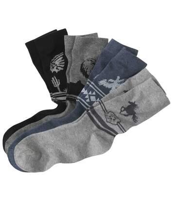 Sada 4 párů ponožek Western