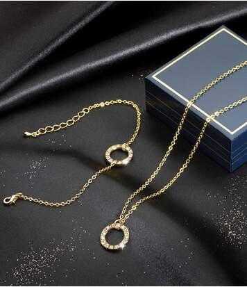 Women's Glamorous Necklace and Bracelet Set