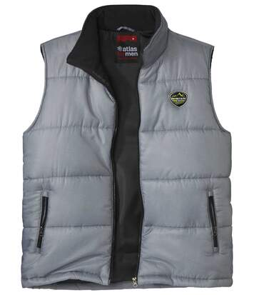 Men's Grey Padded Gilet - Full Zip