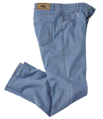 Men's Light Blue Regular Stretch Jeans