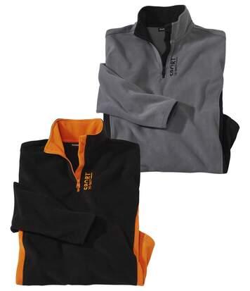 2er-Pack Microfleece-Pullover Sport