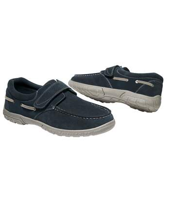 Men's Navy Blue Boat Style Shoes