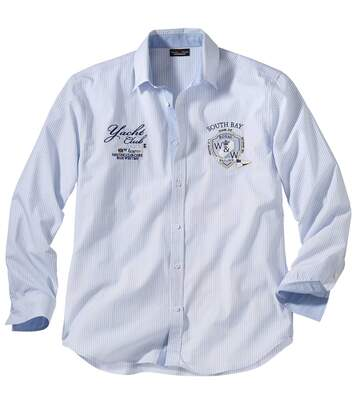 Men's Striped Shirt - Blue White - Yacht Club