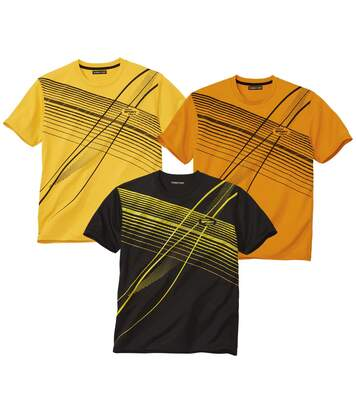Pack of 3 Men's Graphic Print Sporty T-Shirts