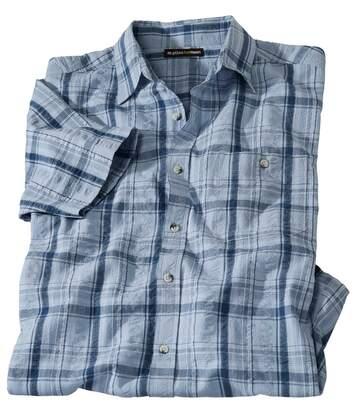 Gofrowana koszula w kratę