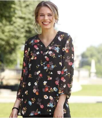 Soepele blouse met bloemenprint