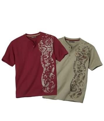 Két darabos tunéziai nyakú Maori póló szett