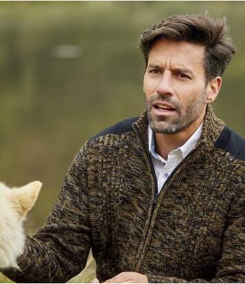 Pletený svetr na zip Causal chic